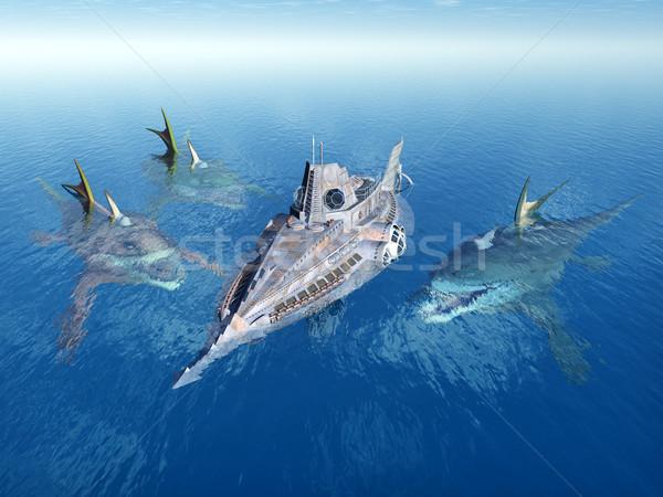 морем Монстры подводная лодка компьютер генерируется 3d иллюстрации Сток-фото © MIRO3D