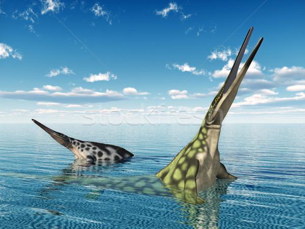 морской рептилия компьютер генерируется 3d иллюстрации Сток-фото © MIRO3D