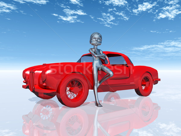 Figure with Sports Car Stock photo © MIRO3D