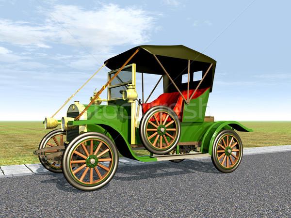 Autómobil számítógép generált 3d illusztráció technológia sebesség Stock fotó © MIRO3D