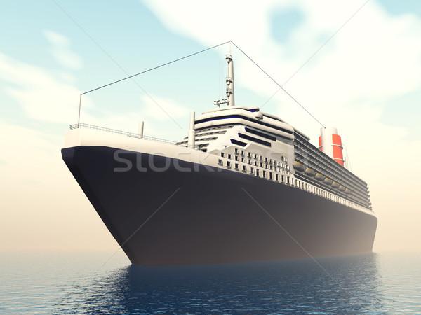 океана компьютер генерируется 3d иллюстрации морем судно Сток-фото © MIRO3D