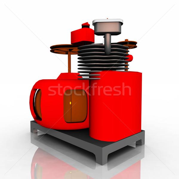 электрических генератор компьютер генерируется 3d иллюстрации Сток-фото © MIRO3D