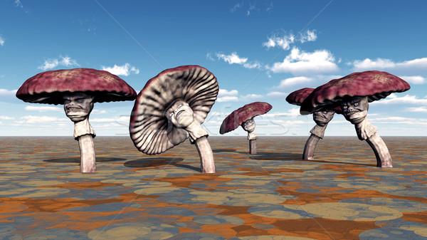 Alienígena plantas computador gerado ilustração 3d outro Foto stock © MIRO3D