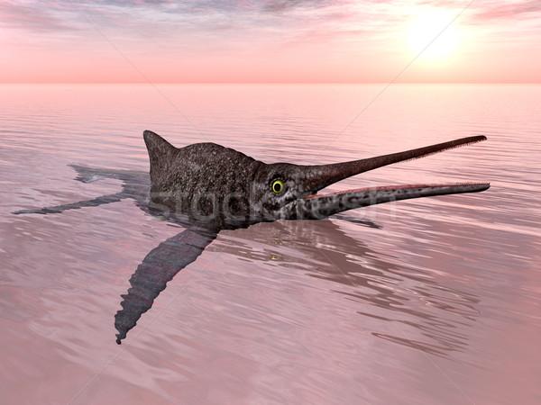Számítógép generált 3d illusztráció nap naplemente óceán Stock fotó © MIRO3D