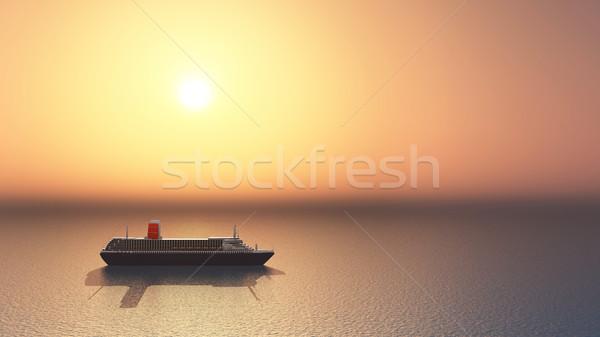 óceán számítógép generált 3d illusztráció nap vakáció Stock fotó © MIRO3D