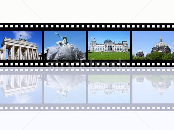 Berlin Computer erzeugt Illustration Filmstreifen kann Stock foto © MIRO3D
