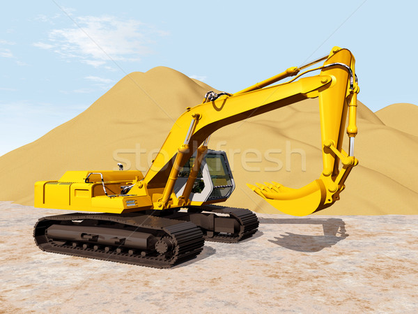 Crawler Excavator Stock photo © MIRO3D