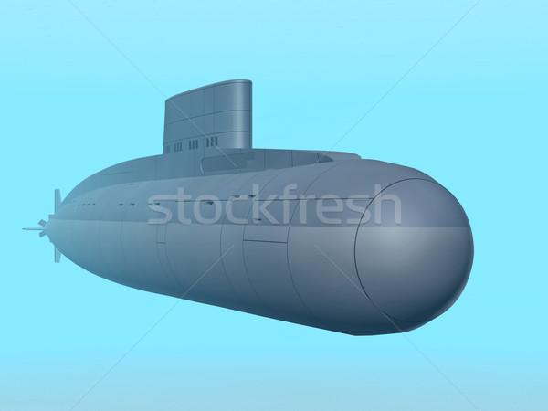 Orosz tengeralattjáró számítógép generált 3d illusztráció Stock fotó © MIRO3D