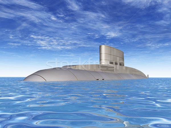 Russisch onderzeeër computer gegenereerde 3d illustration water Stockfoto © MIRO3D