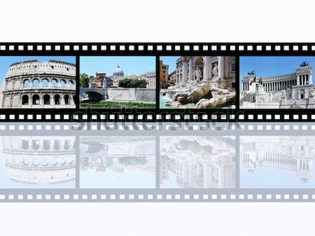 Berlin számítógép generált 3d illusztráció filmszalag konzerv Stock fotó © MIRO3D