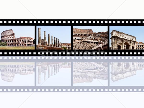 Rzym komputera wygenerowany ilustracja przezroczy puszka Zdjęcia stock © MIRO3D