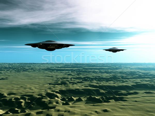 Visitantes espaço computador gerado ilustração 3d dois Foto stock © MIRO3D