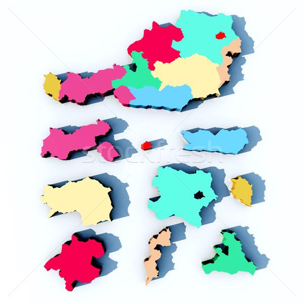 карта Австрия компьютер генерируется 3d иллюстрации Сток-фото © MIRO3D
