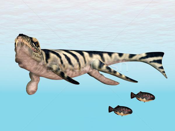 Számítógép generált 3d illusztráció krokodil tenger tudomány Stock fotó © MIRO3D
