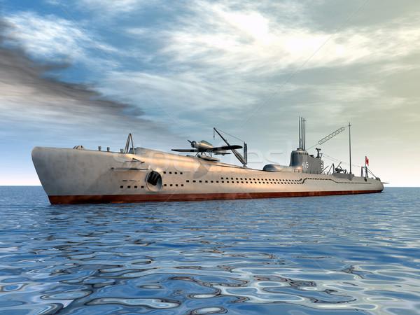 Japoński podwodny komputera wygenerowany 3d ilustracji drugi Zdjęcia stock © MIRO3D