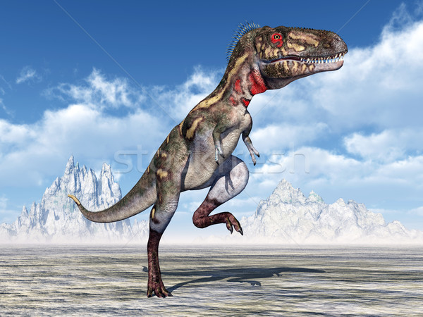 恐竜 コンピュータ 生成された 3次元の図 自然 風景 ストックフォト © MIRO3D