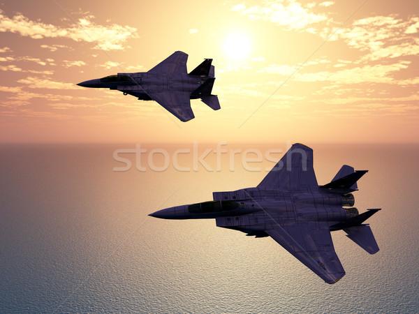 Combat Aircrafts Stock photo © MIRO3D