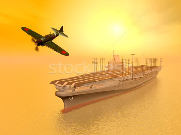 Japanese Aircraft Carrier Stock photo © MIRO3D