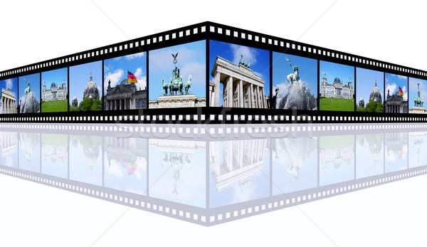 Берлин компьютер генерируется 3d иллюстрации Диафильм можете Сток-фото © MIRO3D