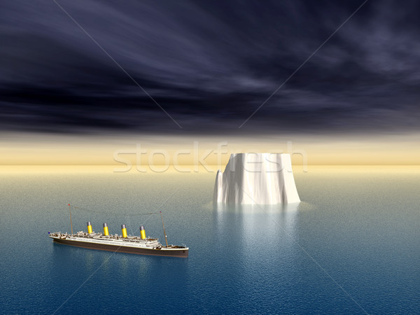 Océan iceberg ordinateur généré 3d illustration mer Photo stock © MIRO3D