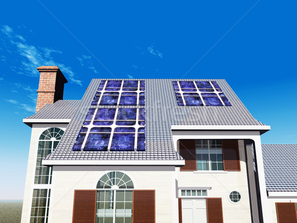 House with Solar Panels Stock photo © MIRO3D