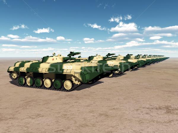 Soviet Light Tanks Stock photo © MIRO3D
