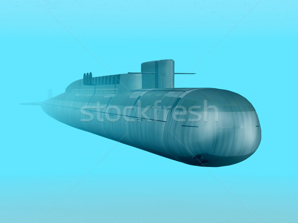 Russian Nuclear Submarine Stock photo © MIRO3D