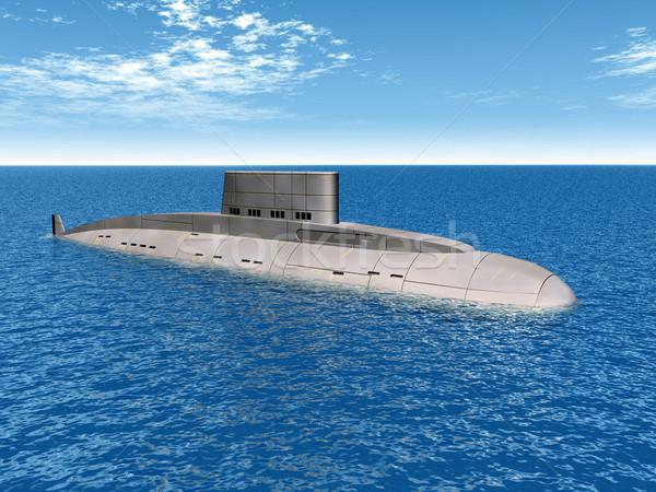 Russisch onderzeeër computer gegenereerde 3d illustration zee Stockfoto © MIRO3D