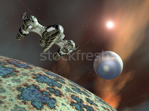 Idegen bolygók űrhajó számítógép generált 3d illusztráció Stock fotó © MIRO3D