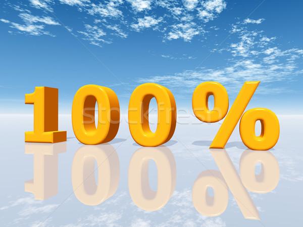 Uno cento cento computer generato illustrazione 3d Foto d'archivio © MIRO3D