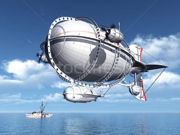 Fantázia számítógép generált 3d illusztráció felhők tenger Stock fotó © MIRO3D