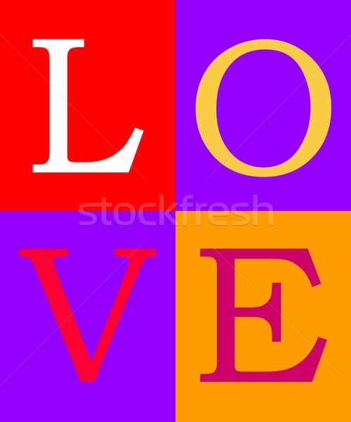 любви компьютер генерируется иллюстрация письма цветами Сток-фото © MIRO3D