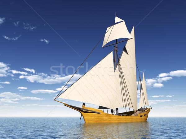 Caravel Ship Stock photo © MIRO3D