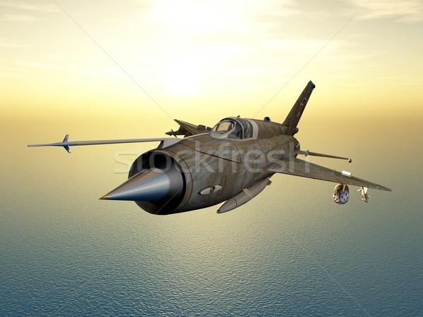 Szovjet repülőgép vadászrepülő repülőgép számítógép generált Stock fotó © MIRO3D