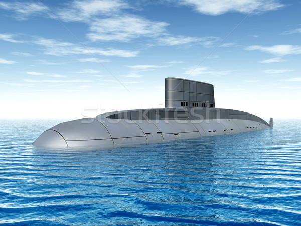 Orosz tengeralattjáró számítógép generált 3d illusztráció tenger Stock fotó © MIRO3D