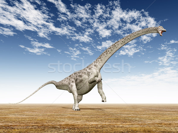 Dinosaurus computer gegenereerde 3d illustration natuur blauwe hemel Stockfoto © MIRO3D