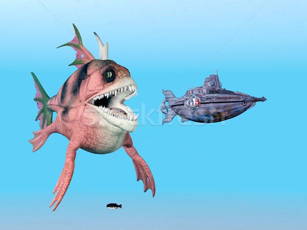 морем монстр подводная лодка компьютер генерируется 3d иллюстрации Сток-фото © MIRO3D
