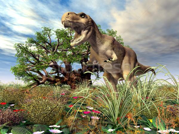 コンピュータ 生成された 3次元の図 恐竜 自然 科学 ストックフォト © MIRO3D
