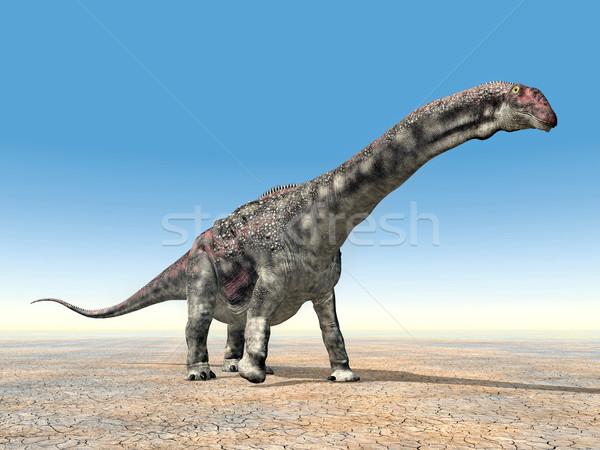 Dinosaur Diamantinasaurus Stock photo © MIRO3D