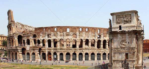 Colosseum kemer Roma İtalya tiyatro mimari Stok fotoğraf © MIRO3D