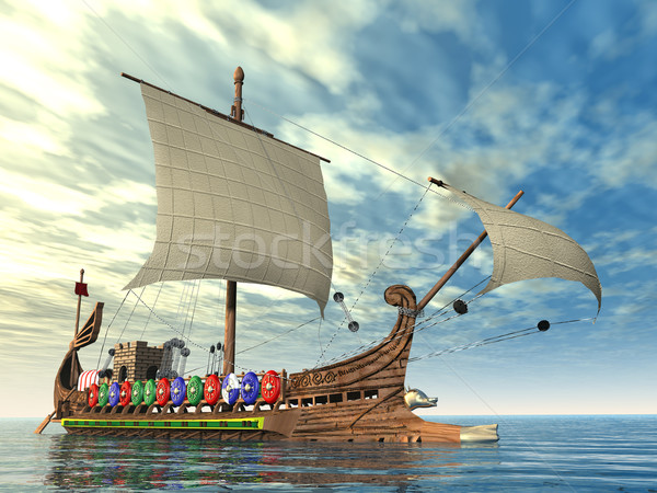 Ancient Roman Warship Stock photo © MIRO3D