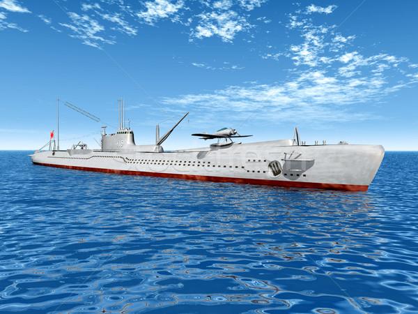 Японский подводная лодка компьютер генерируется 3d иллюстрации второй Сток-фото © MIRO3D