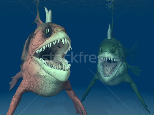 Zee monsters computer gegenereerde 3d illustration twee Stockfoto © MIRO3D