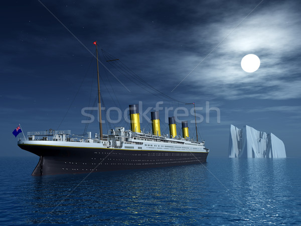 Titanic and Iceberg Stock photo © MIRO3D