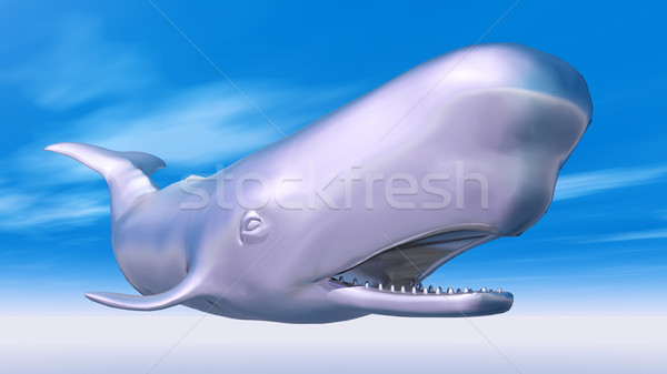Zilver sperma walvis computer gegenereerde 3d illustration Stockfoto © MIRO3D