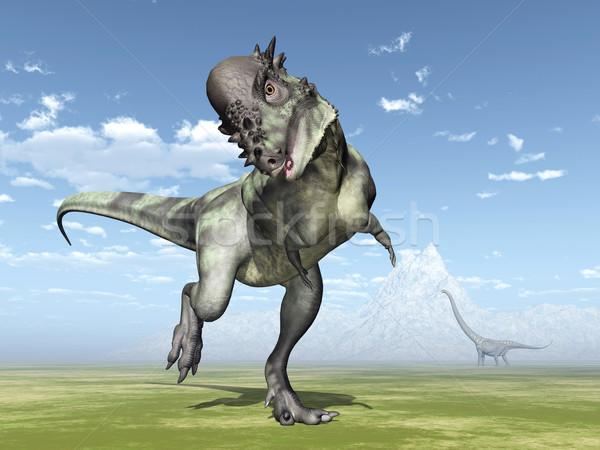 Számítógép generált 3d illusztráció dinoszauruszok állat dinoszaurusz Stock fotó © MIRO3D