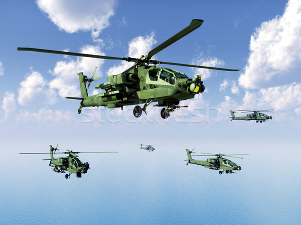 Apache Helicopters Stock photo © MIRO3D