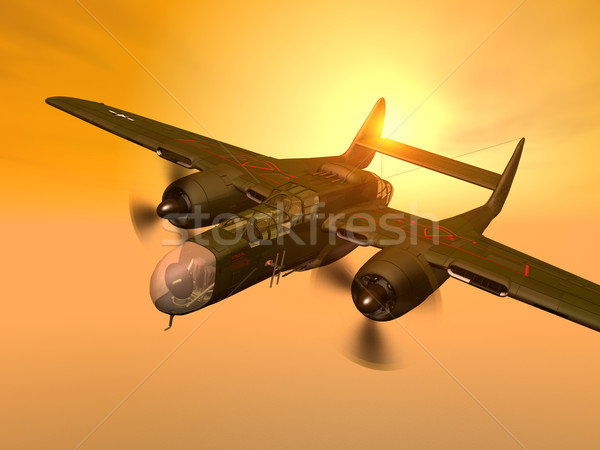 American Night Fighter Stock photo © MIRO3D