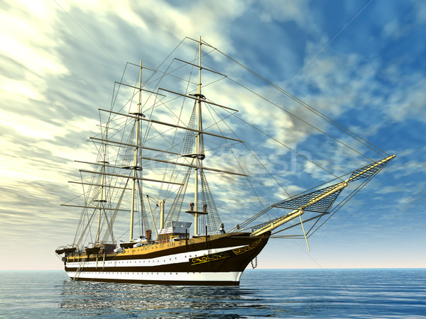 Sailing School Ship Stock photo © MIRO3D