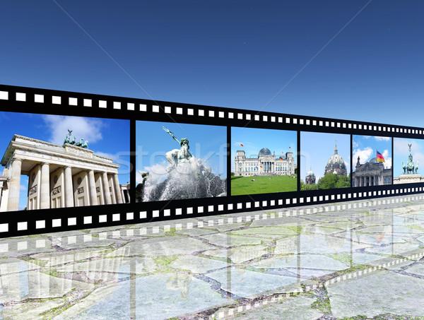 Berlin komputera wygenerowany 3d ilustracji przezroczy Zdjęcia stock © MIRO3D